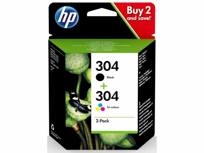 PACK CARTUCHOS HP 304 COLOR I NEGRO