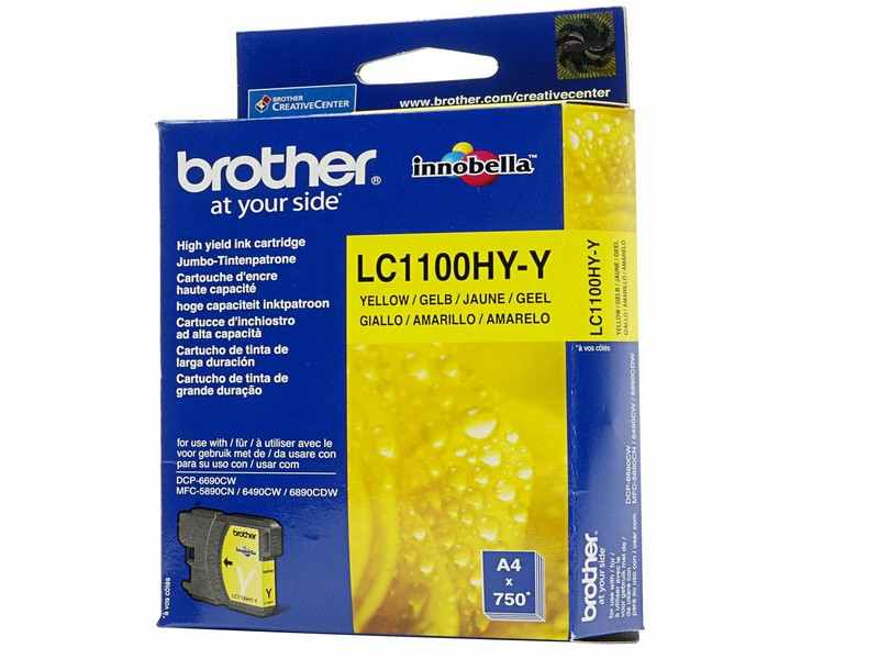 CARTUCHO BOTHER AMARILLO LC1100HYY