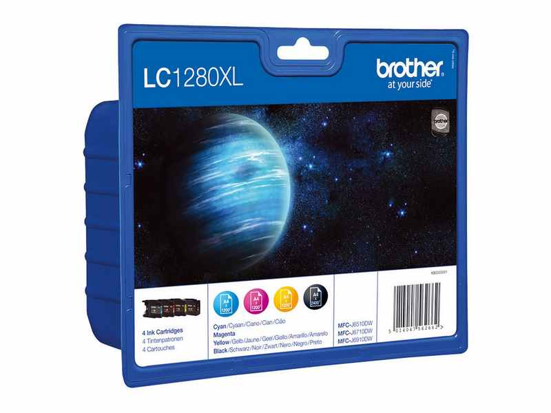 PACK 4 CARTUTX BROTHER LC1280XL
