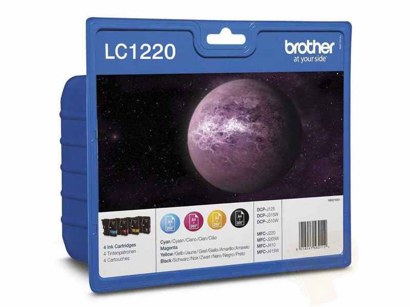 PACK 4 COLORES BROTHER LC1220