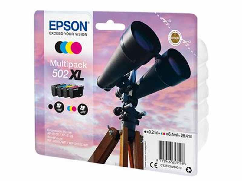 PACK 4 CARTUTXOS EPSON 502XL