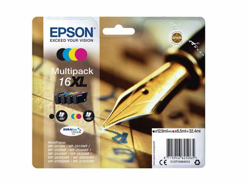PACK 4 COLORES EPSON 16XL