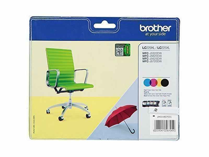 PACK 4 CARTUCHOS BROTHER LC229XL