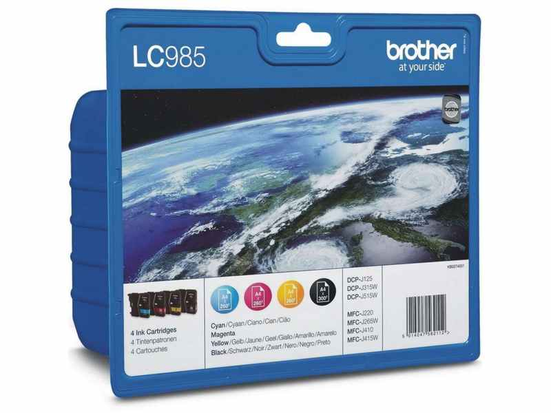 CARTUCHO BROTHER LC985 4 COLORES