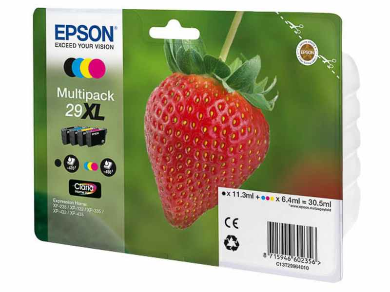 PACK 4 CARTUTXOS EPSON XP235 29XL