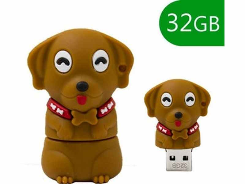 PENDRIVE 32GB 2.0 GOS MARRÓ