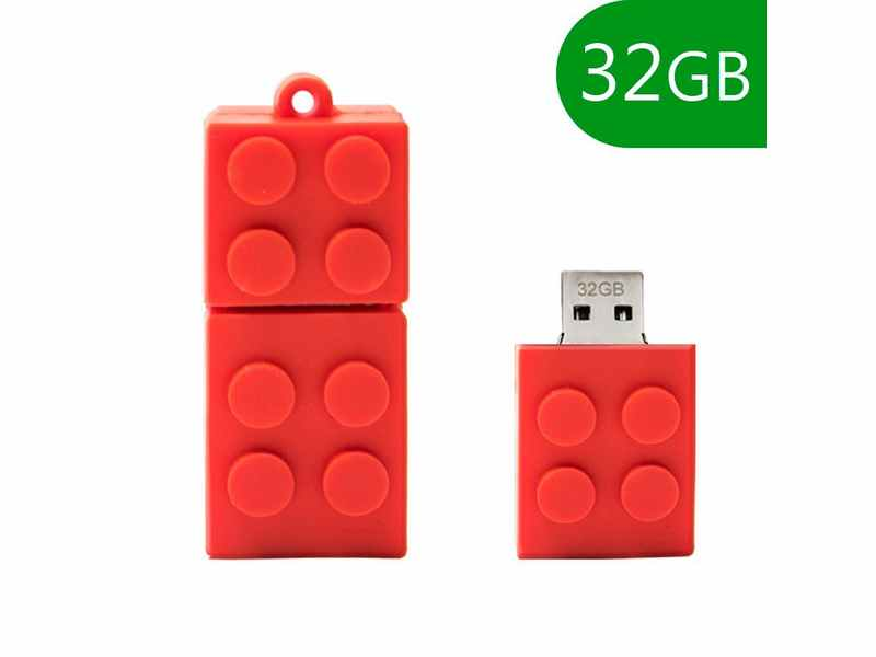 PENDRIVE 32GB 2.0 LEGO VERMELL